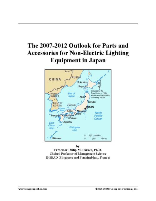 The 2007-2012 Outlook for Parts and Accessories for Non-Electric Lighting Equipment in Japan - Product Image