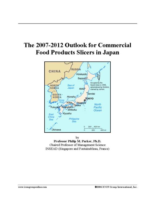 The 2007-2012 Outlook for Commercial Food Products Slicers in Japan - Product Image