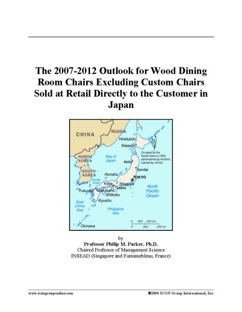 The 2007-2012 Outlook for Wood Dining Room Chairs Excluding Custom Chairs Sold at Retail Directly to the Customer in Japan - Product Image