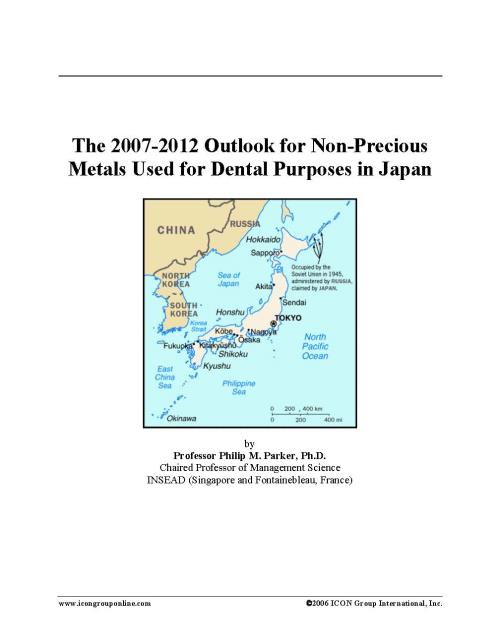 The 2007-2012 Outlook for Non-Precious Metals Used for Dental Purposes in Japan - Product Image