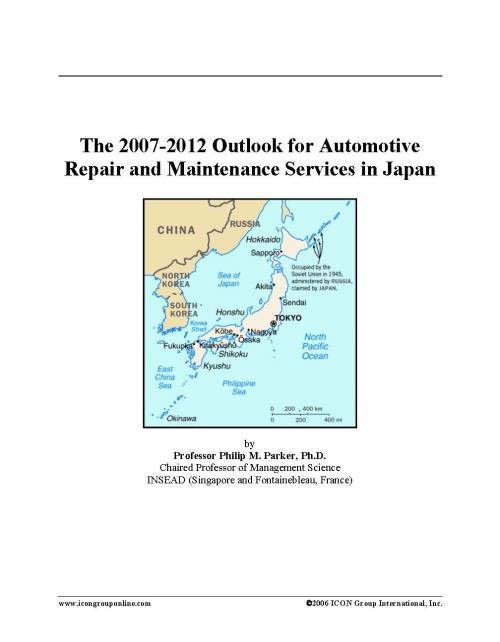 The 2007-2012 Outlook for Automotive Repair and Maintenance Services in Japan - Product Image