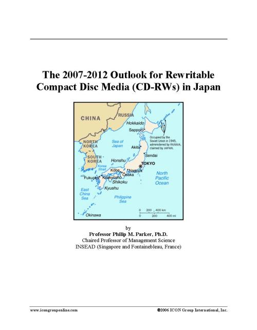 The 2007-2012 Outlook for Rewritable Compact Disc Media (CD-RWs) in Japan - Product Image