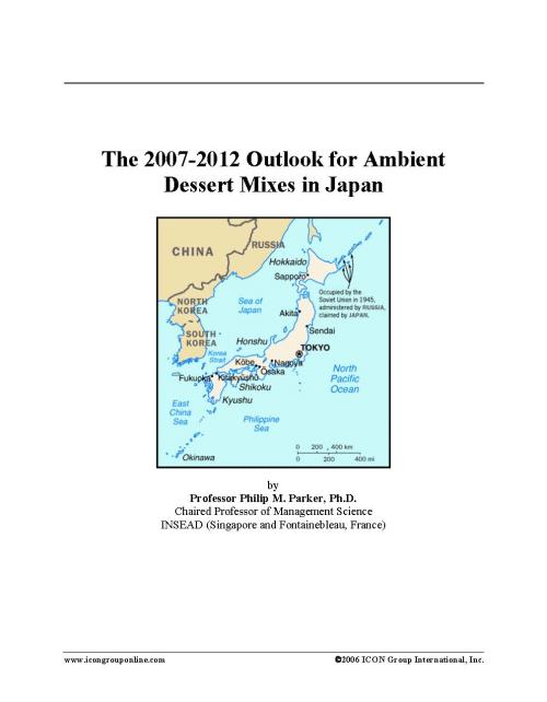 The 2007-2012 Outlook for Ambient Dessert Mixes in Japan - Product Image