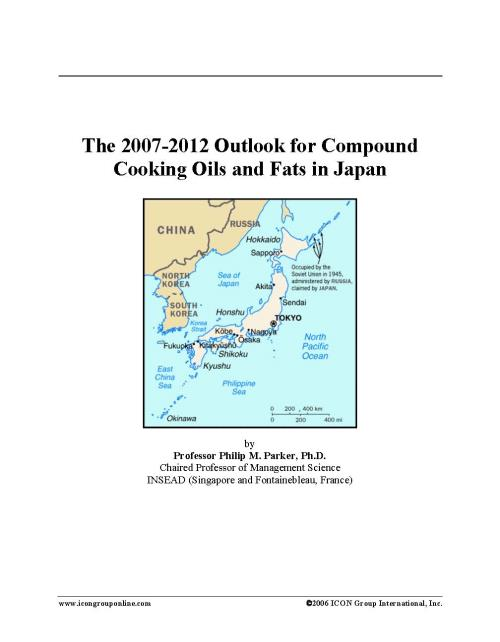 The 2007-2012 Outlook for Compound Cooking Oils and Fats in Japan - Product Image