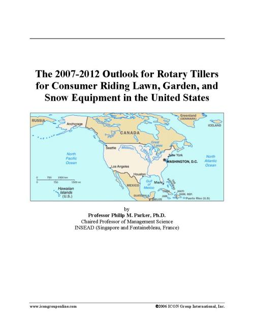The 2007-2012 Outlook for Rotary Tillers for Consumer Riding Lawn, Garden, and Snow Equipment in the United States - Product Image