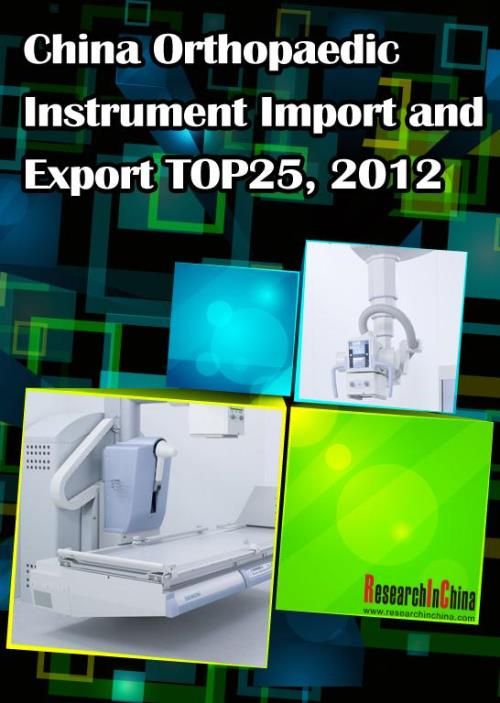 China Orthopaedic Instrument Import and Export TOP25, 2012 - Product Image