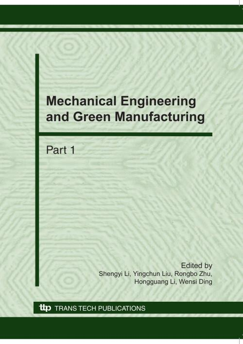 Mechanical Engineering and Green Manufacturing - Product Image
