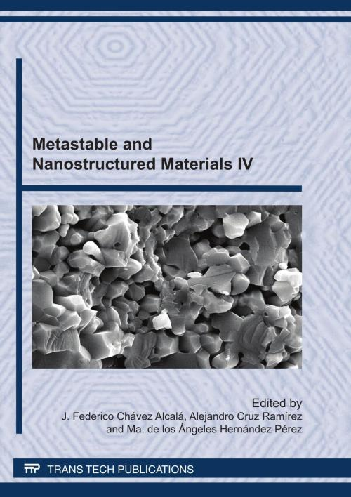 Metastable and Nanostructured Materials IV - Product Image