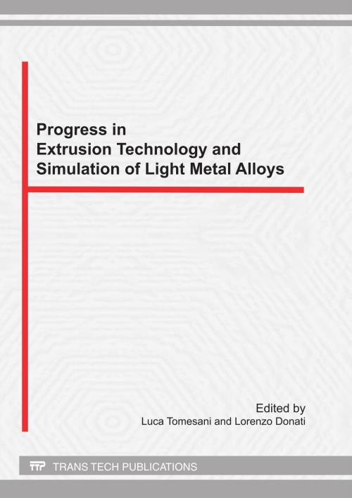 Progress in Extrusion Technology and Simulation of Light Metal Alloys - Product Image