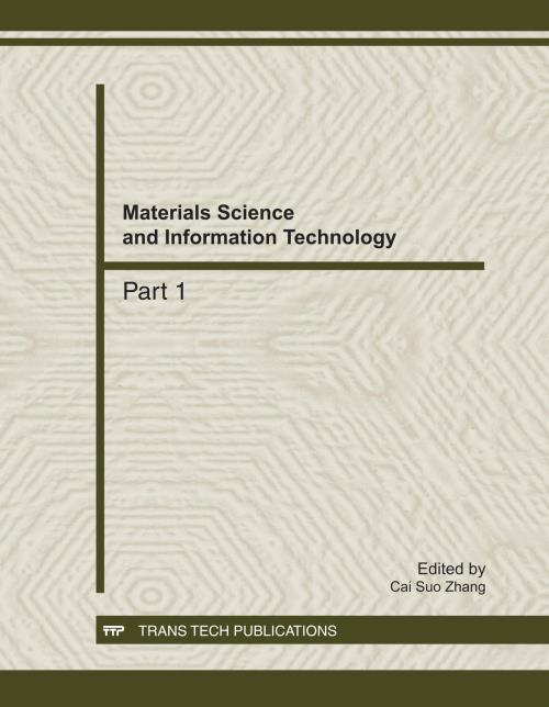 Materials Science and Information Technology - Product Image