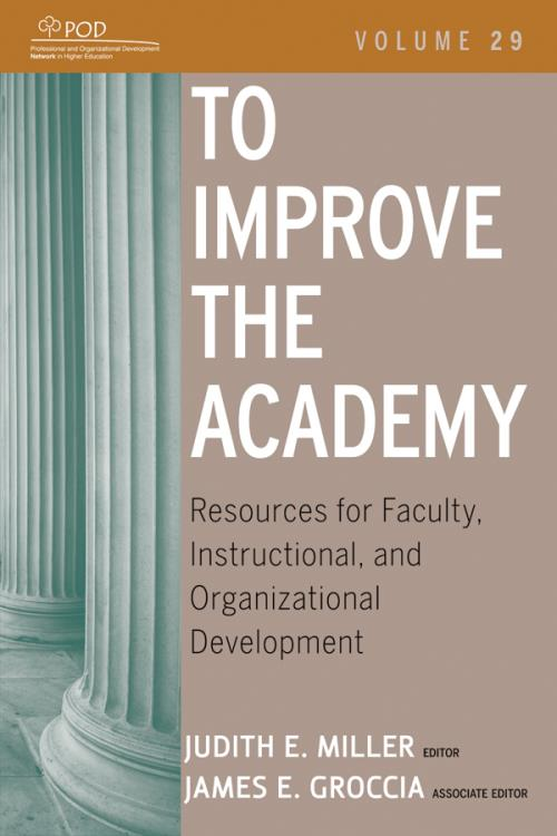 To Improve the Academy. Resources for Faculty, Instructional, and Organizational Development. Volume 29. JB - Anker - Product Image