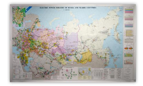 Incotec Electric Power Industry of Russia and Nearby Countries 2012 Map - Product Image