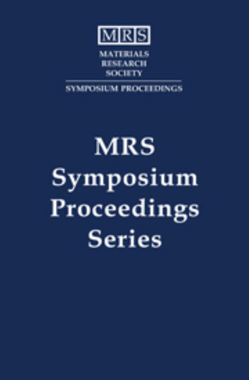 Synthesis/Characterization and Novel Applications of Molecular Sieve Materials: Volume 233. MRS Proceedings - Product Image