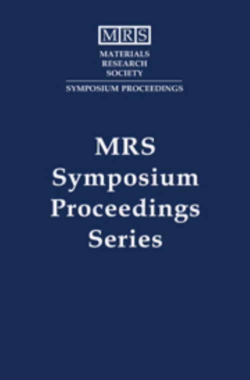 Scientific Basis for Nuclear Waste Management XVI: Volume 294. MRS Proceedings - Product Image