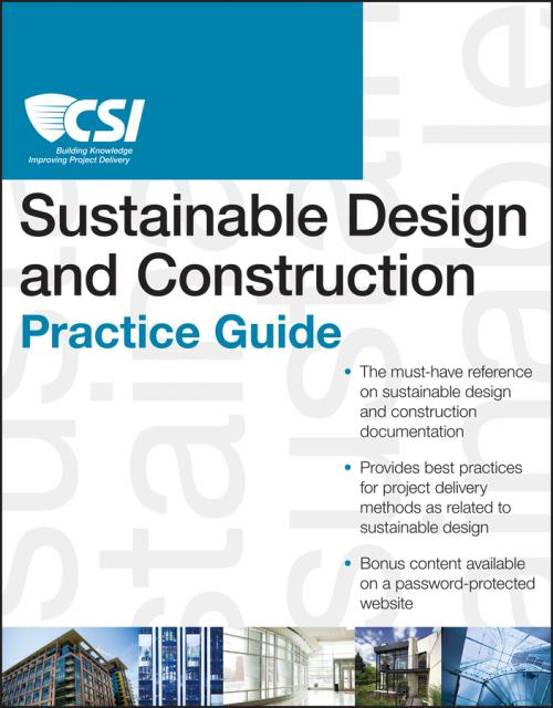 The CSI Sustainable Design and Construction Practice Guide. CSI Practice Guides - Product Image