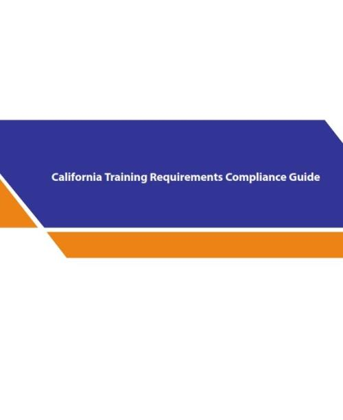 California Training Requirements Compliance Guide - Product Image