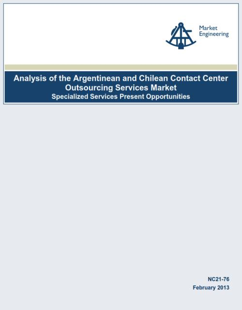 Analysis of the Argentinean and Chilean Contact Center Outsourcing Services Market 2013 - Product Image