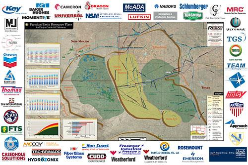 Permian Basin Map 2013 - Product Image