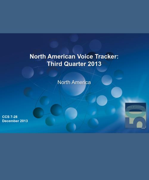North American Voice Tracker: Third Quarter 2013 - Product Image