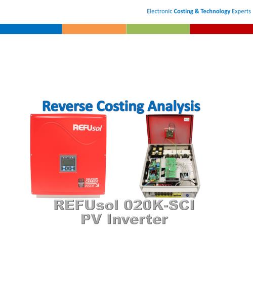 REFUsol 020K-SCI 20 KW Commercial PV Inverter Reverse Costing Analysis - Product Image