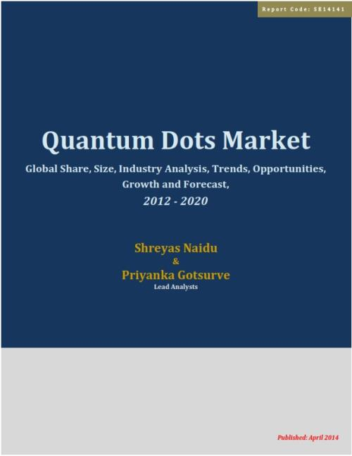 Global Quantum Dot (QD) Market - Global Analysis, Growth, Trends, Opportunities, Size, Share and Forecast through 2020 - Product Image