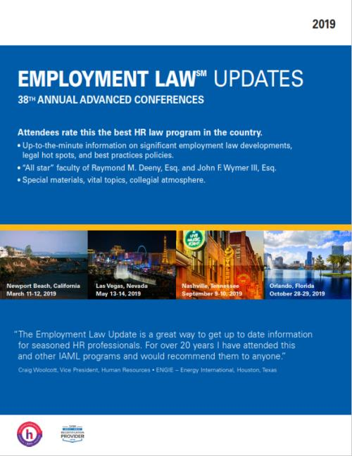 2019 Employment Law Update - 38th Annual Advanced Conference (Nashville,  United States - September 9-10, 2019)