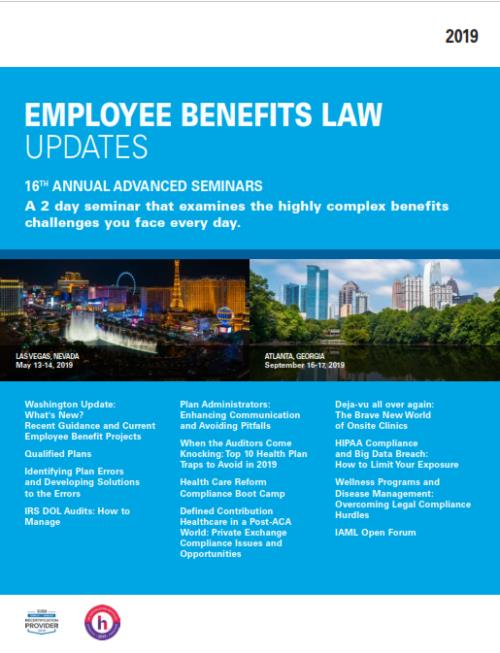 10 Big Hurdles To Identifying And >> 2019 Employee Benefits Law Update 16th Annual Advanced Seminar Atlanta United States September 16 17 2019