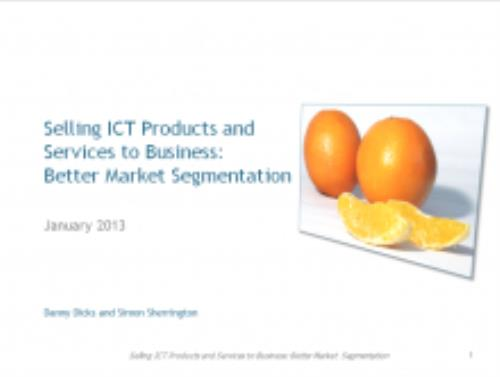 Selling ICT Products and Services to Business: Better Market Segmentation - Product Image