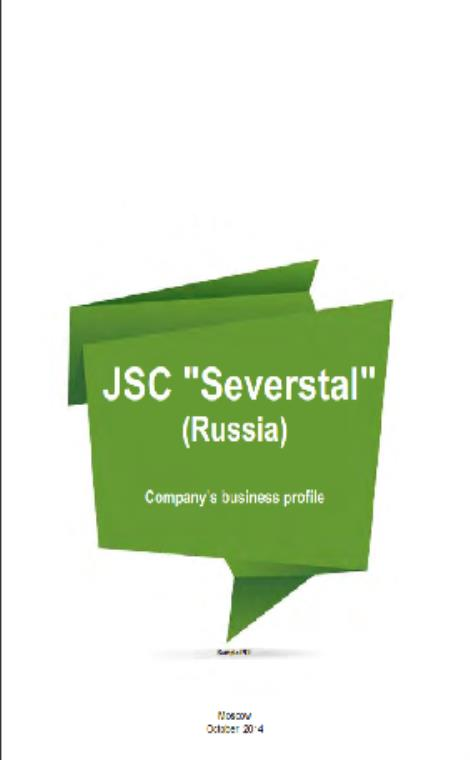 "JSC ""Severstal"" (Russia) (company business profile) (Russian Version) - Product Image"