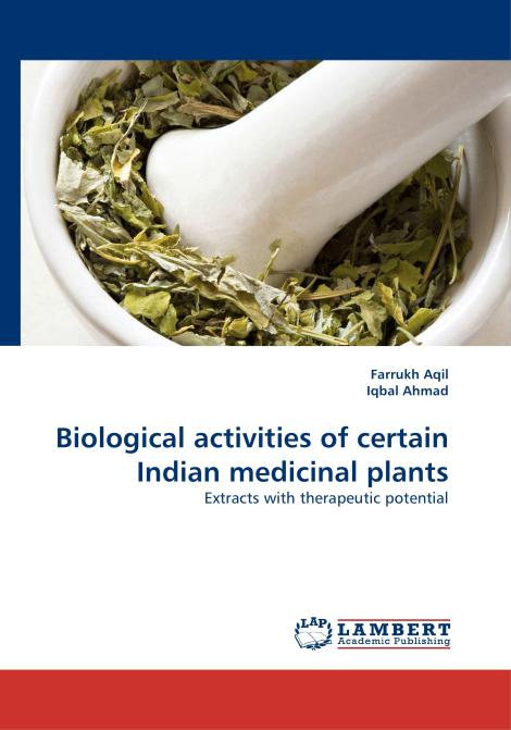 Biological activities of certain Indian medicinal plants. Edition No. 1 - Product Image