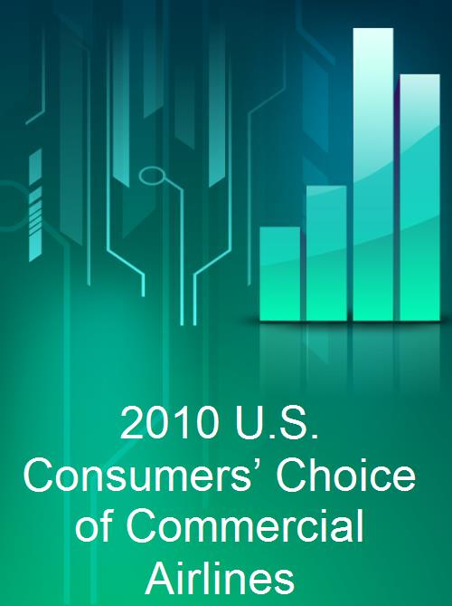 2010 U.S. Consumers' Choice of Commercial Airlines - Product Image