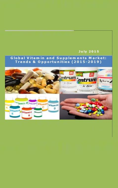 Global Vitamin and Supplements Market: Trends & Opportunities (2015-2019)