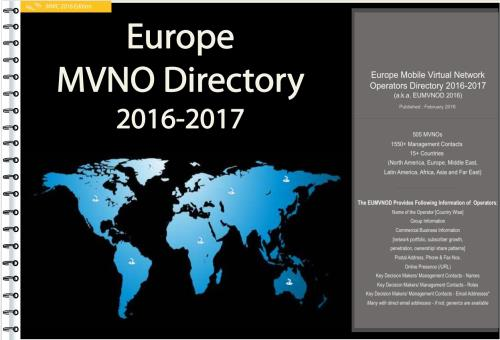 Europe Mobile Virtual Network Operators Directory 2016-2017