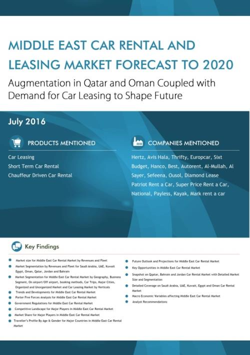 Middle East Car Rental And Leasing Market Forecast To 2020