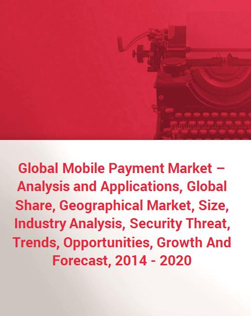 Global Mobile Payment Market – Analysis and Applications, Global Share,  Geographical Market, Size, Industry Analysis, Security Threat, Trends,