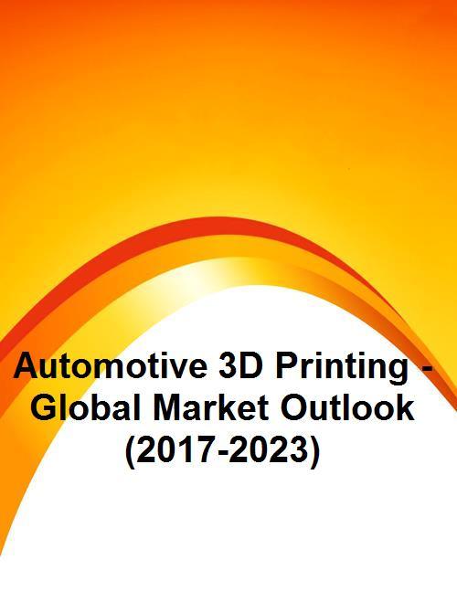 Automotive 3D Printing - Global Market Outlook (2017-2023)